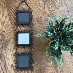 NWT Pier 1 Imports 3 Photo Hanging Picture Frame